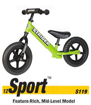 Strider Sport Balance Bike Free Shipping